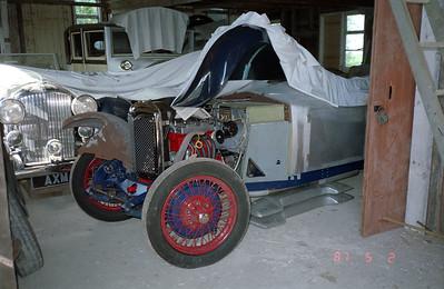 Some interesting English vintage cars undergoing restoration.