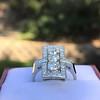 2.40ctw Art Deco Old European Cut Diamond Geometric Dinner Ring 19