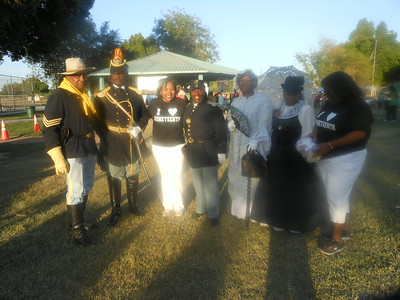 ARIZONA BUFFALO SOLDIERS, MESA, AZ. NAACP Juneteenth, Yuma, AZ.  Buffalo Soldiers of the Arizona Territory - Ladies and Gentlemen of the Regiment.  June 14, 2014