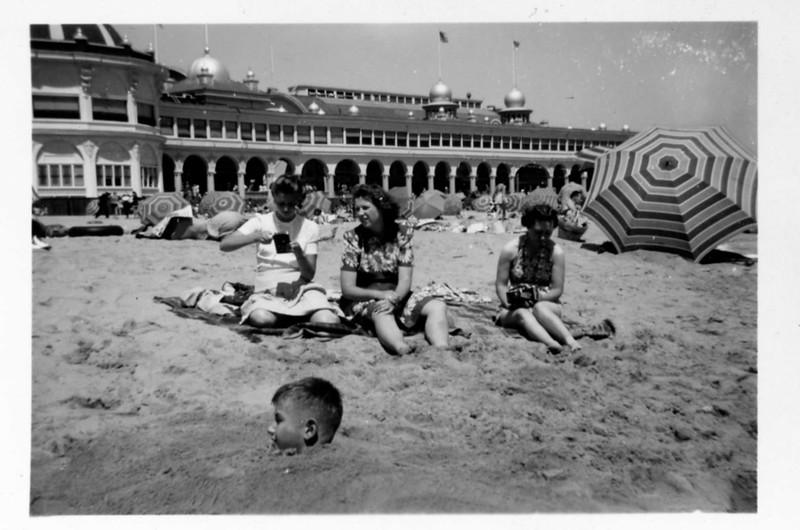 "Jim Harsha ""head shot,"" Alice, Helen, ?. 1943; Santa Cruz CA"