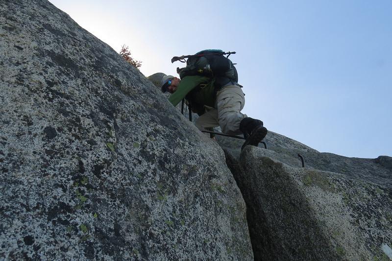 Dan going up an interesting bit, should've gotten the whole climb.JPG