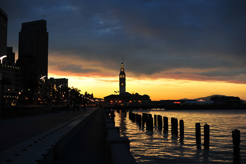 Ferry Building at Sunset  (C) 2009 Brian Neal