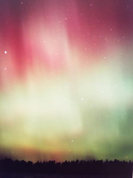 Aurora Borealis Over Frozen Sand Lake #2  c. 1999/2000/2001