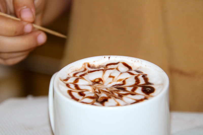 Latte Art in Chocolate