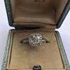 1.59ct Antique Cushion Cut Diamond Halo Ring GIA K VS2 19