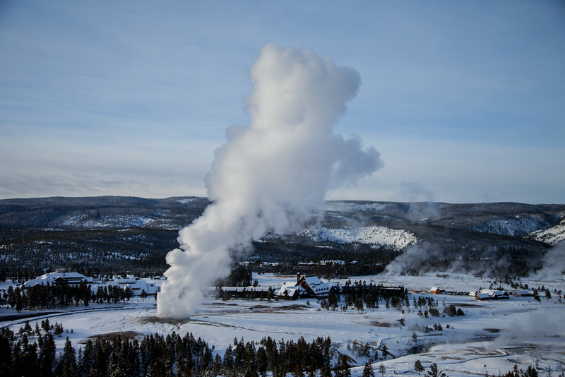 Old faithful from above