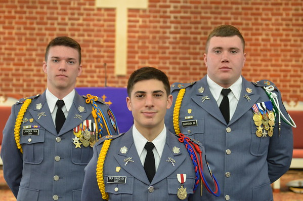 The Corps Top Three Cadet Officers