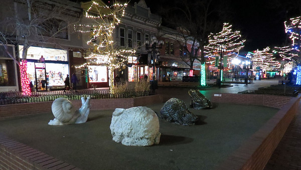 November 23:  Pearl Street Mall in downtown Boulder, CO .  .  .