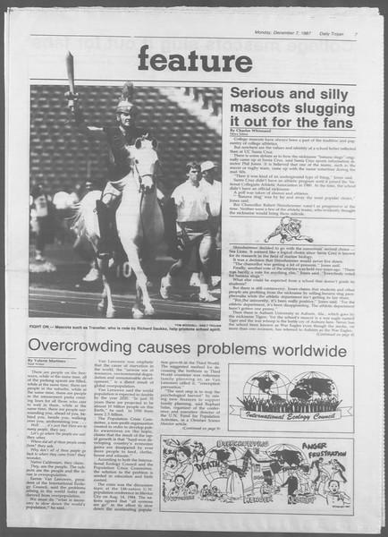 Daily Trojan, Vol. 105, No. 64, December 07, 1987