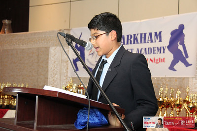 Markham Cricket Academy Annual Award NIght 2013