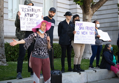 12 June 2021 San Francisco:  Protest Against Privatization of Public Housing and Neglect by SFHA and OHA