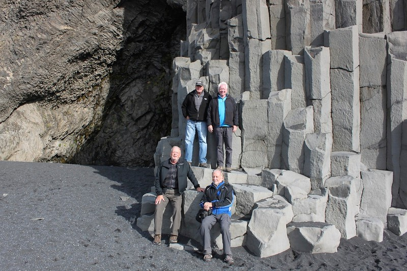 The  group at the basalt cliffs - photo by Ron R.