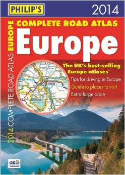 Philip's Complete Road Atlas Europe 2014