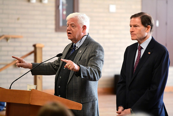 2/1/2019 Mike Orazzi | Staff U.S. Representative. John Larson and Senator Richard Blumenthal at the Bristol Senior Center talking about the proposed Social Security 2100 Act.