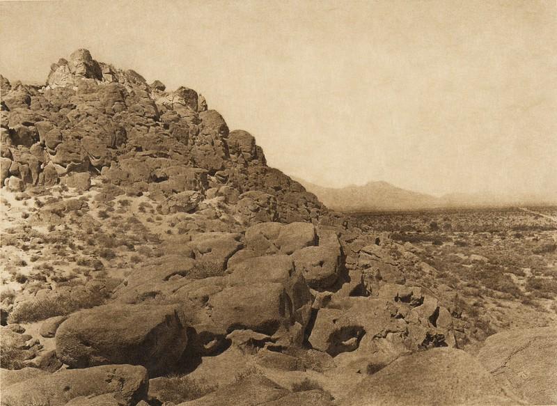 Ancient Shore of Salton Sea  (The North American Indian, v. XV. Norwood, MA, The Plimpton Press, 1926)