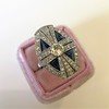 1.88ctw Art Deco style Saphhire and Diamond Dinner Ring 19
