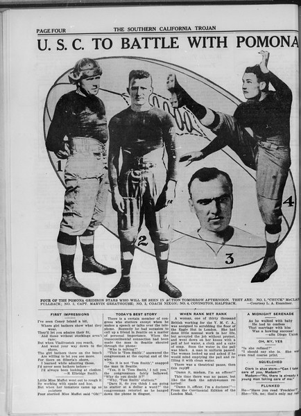 The Southern California Trojan, Vol. 11, No. 9, October 24, 1919