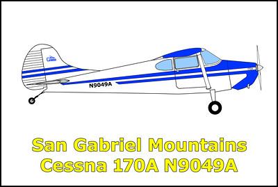San Gabriel Mountains Cessna 170A N9049A 11/16/19