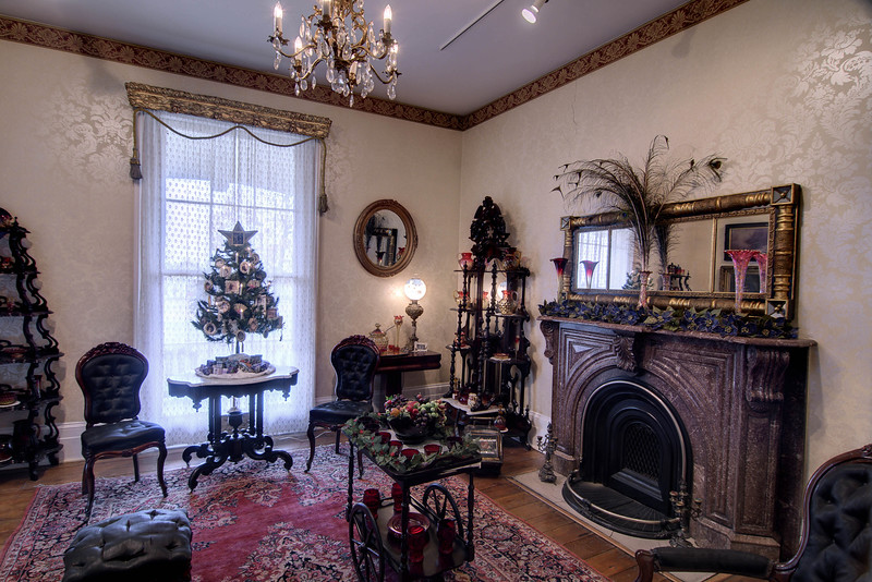 Christmas decor inside the historic Mabry-Hazen House in Knoxville, TN on Sunday, December 14, 2014. Copyright 2014 Jason Barnette