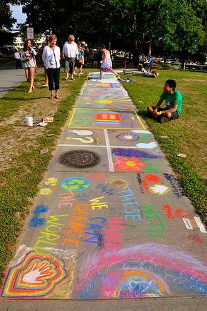 chalk walk art