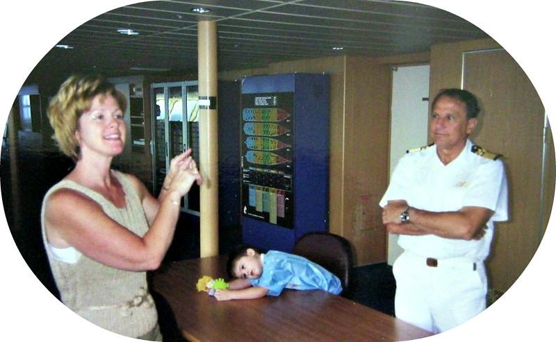 The Capt.'s wife, Joyce, son, Haris & Ship Capt.