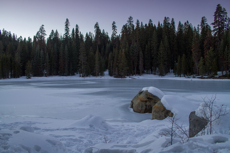 winter, sequoia, kings canyon, nation park, California, frozen, pines, lake, ice, cold