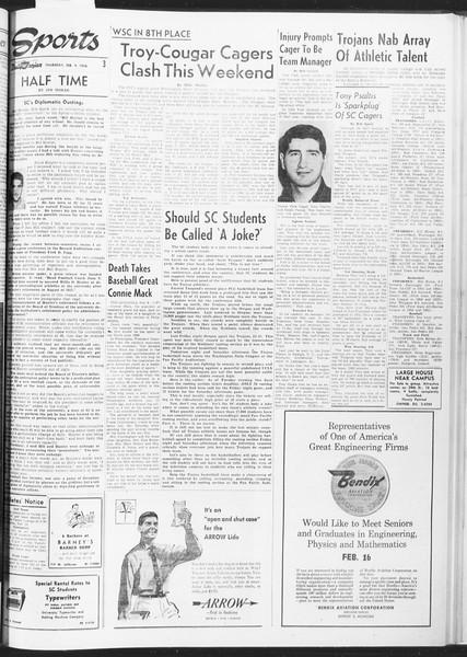 Daily Trojan, Vol. 47, No. 71, February 09, 1956