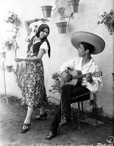 1936, Olvera St., Musician and Dancer