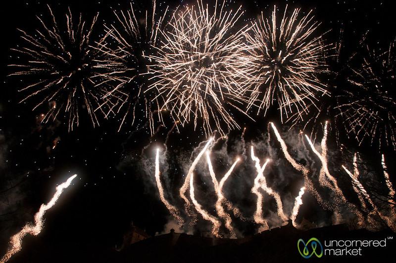 New Year's Fireworks at Edinburgh's Hogmanay