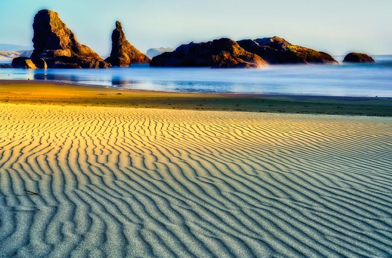 Wind-Swept Sand on Bandon Beach