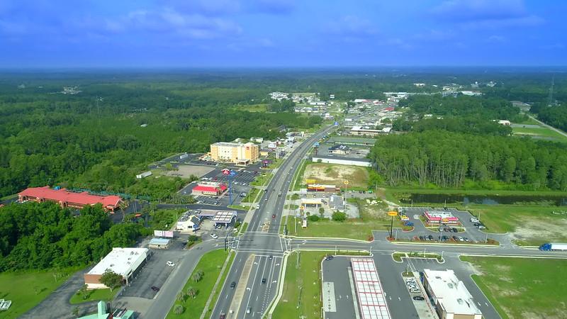 Aerial drone tour Lake City Florida USA 4k