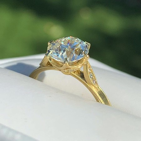 """1.88ct Old European Cut Diamond """"Grace"""" Solitaire by Erika Winters"""