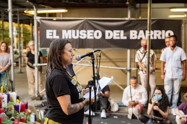 Altar and Sunset Vigil Performance LOS QUE MUEREN POR LA VIDA, NO PUEDEN LLAMARSE MUERTOS!
