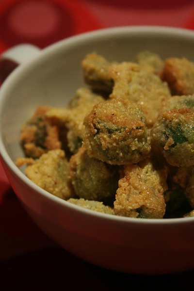 Fried okra!