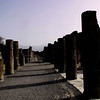 Columns left from some of the shops of Pompeii. Once this town had over 20,000 people..