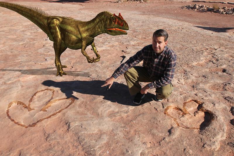 Dinosaur Tracks - Allosaurus tracks, even scarier