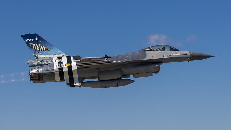 BAF 349 Squadron / Lockheed F-16A-20 MLU Fighting Falcon / FA-124 / 75 Years D-Day Livery