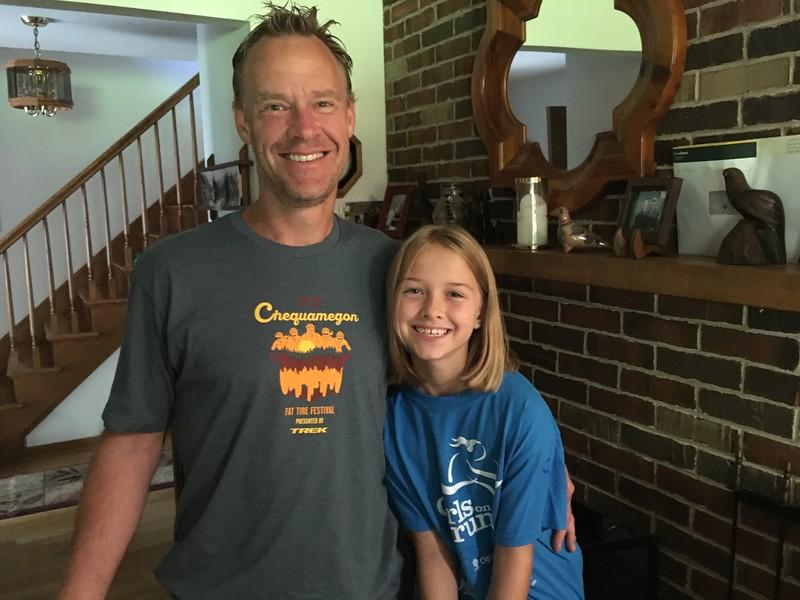 Mike Nordengren med dottern Anya