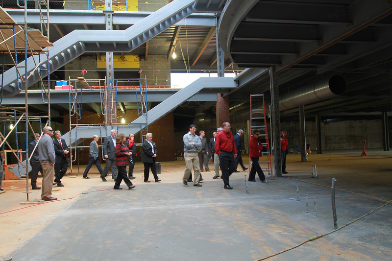 Tucker Student Center Topping Off Ceremony and Walk Through.