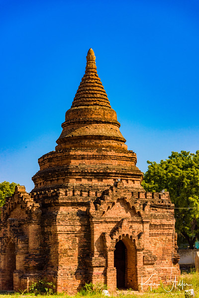 One of many thousands of pagodas dotting the landscape around Bagan.