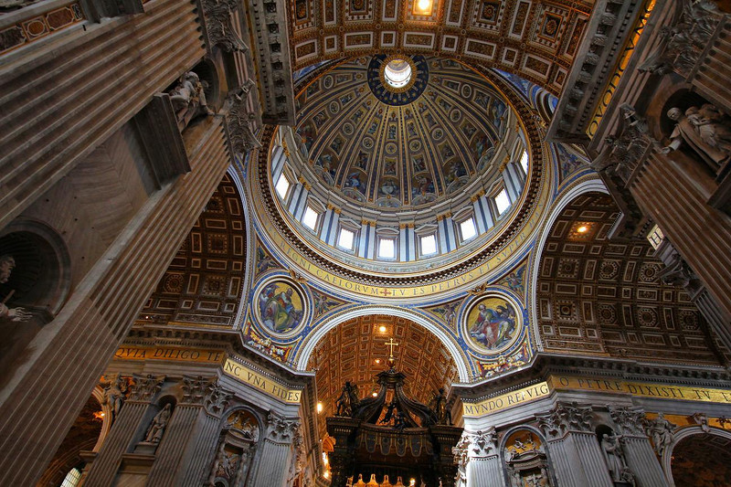 St. Peter's Basilica- perhaps the most awe-inspiring room I have ever been in.