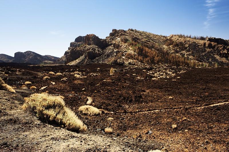 Okraj kaldery z vyhlídky u Pico Viejo