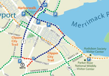 Clipper City Rail Trail map