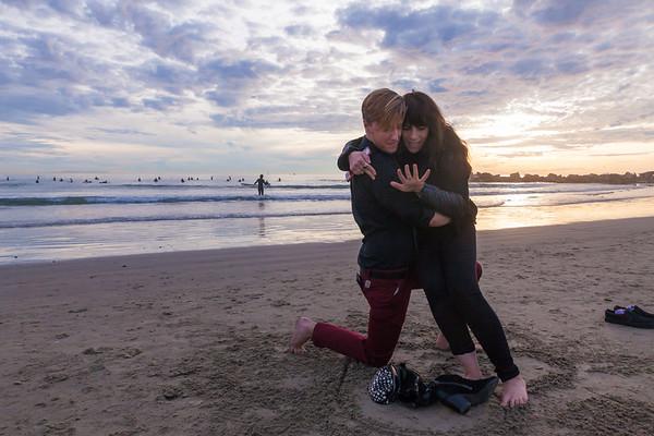 Scott and Terra - ENGAGEMENT - Venice Beach, 1/8/17