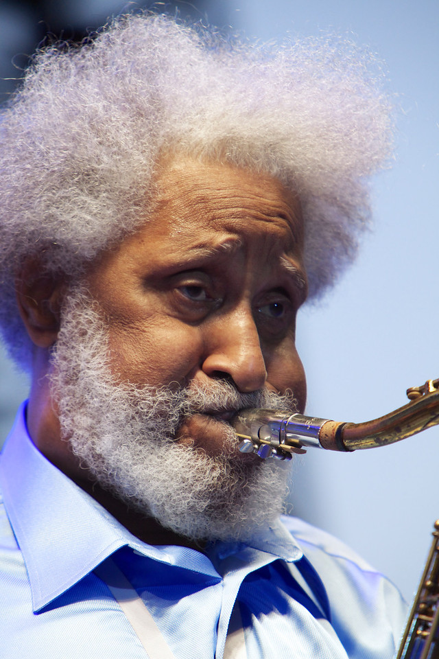 Sonny Rollins in concert at Jazz a Juan on 7/17/12