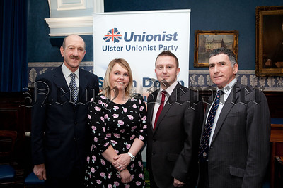 Ulster Unionist Party election canditates 2014, William Mitchell (Crotlieve), Jill Macauley (Mourne), David Taylor (Slieve Gullion) and Harold McKee (Mourne). R1410014