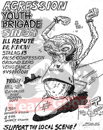 Agression - Youth Brigade - Sin 34 - Ill Repute - Dr. Know - Stalag 13