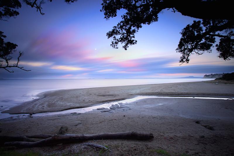 Sunset at Long Bay Regional Park
