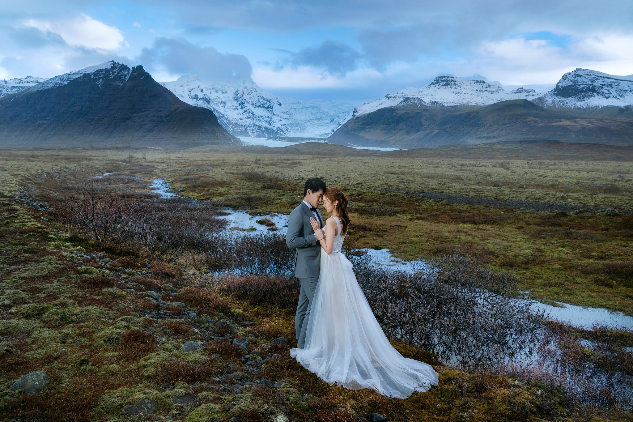 冰島婚紗攻略, 冰島婚紗, Donfer, Iceland Pre-Wedding, Svínafelljökull Glacier point of view