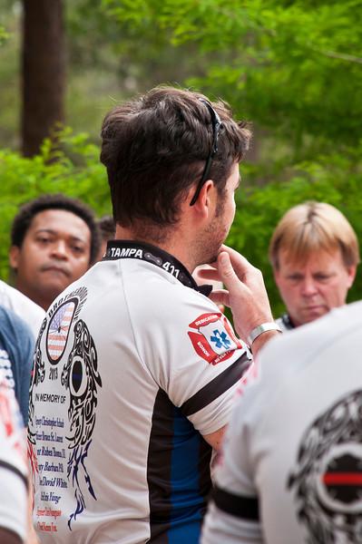 Pre-Ride Ceremony 2013 Brotherhood Ride Brooksville, Florida © 2013